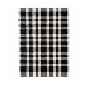 Tattersal Black Indoor / Outdoor Rug