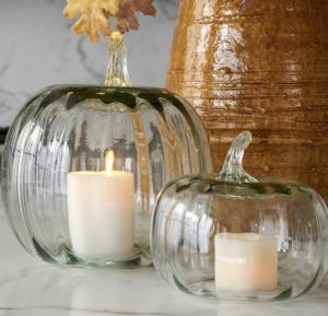 Recycled Glass Pumpkin Cloche