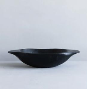 Black Vintage Dough Bowl