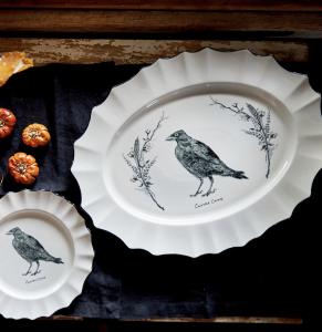 Raven Serving Platter