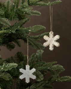Marble Snowflake Ornaments (Set of 2)