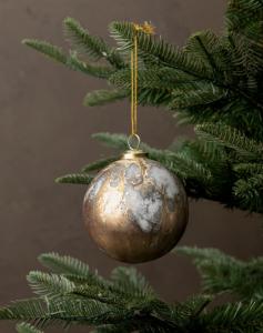 Metallic Marbled Ornament