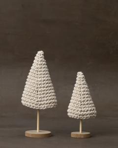 Crochet Mantel Trees (Set of 2)