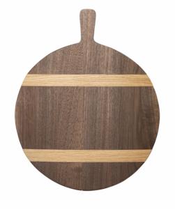 Round Walnut Wood Bread Board