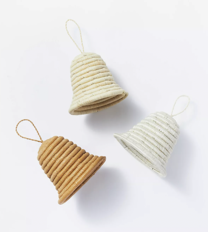 Set of 3 of Woven Bell Ornaments