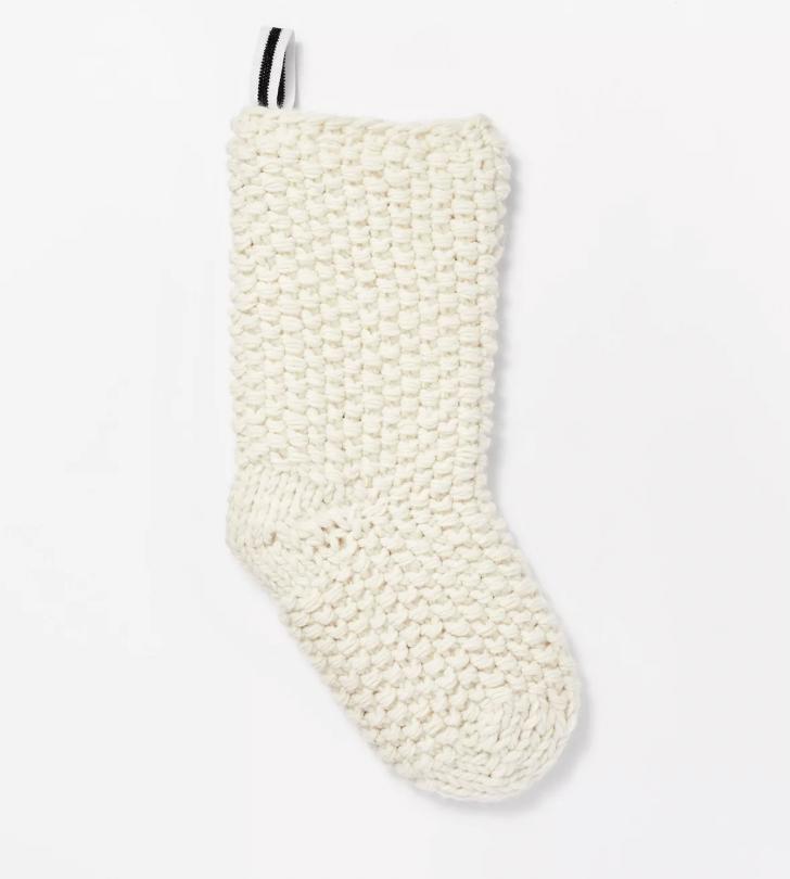 Cream Chunky Knit Stocking
