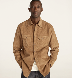 Garment-Dyed Corduroy Workshirt