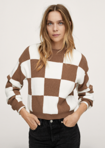 Checks Knitted Sweater