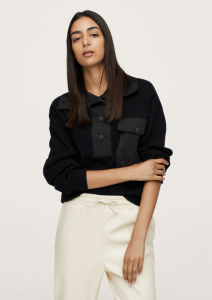 Combined Panel Knit Sweater
