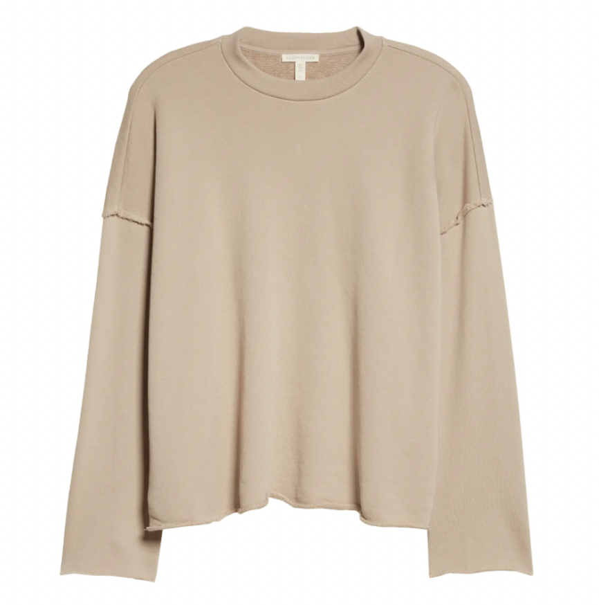Crewneck Boxy Organic Cotton Sweatshirt