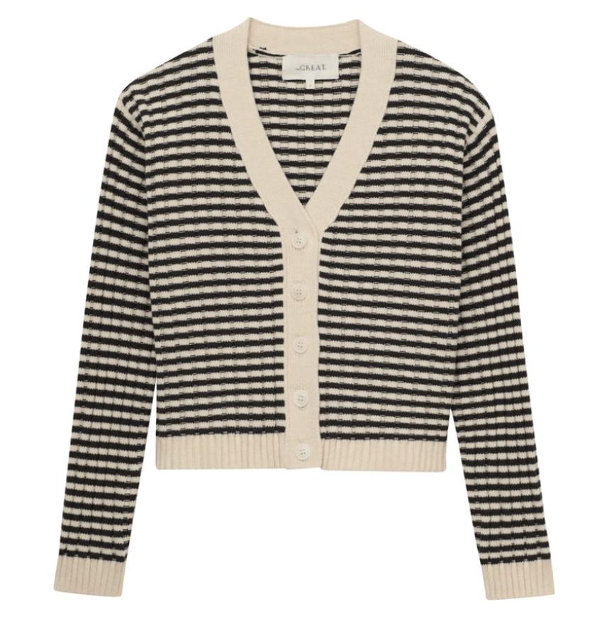 The Mini Striped Cardigan