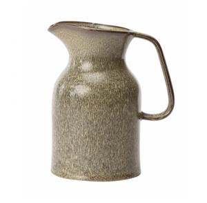 Reactive Glazed Stoneware Pitcher