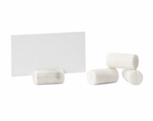 White Marble Place Card Holder (Set of 4)