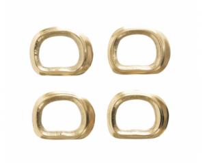 Gilford Brass Napkin Rings (Set of 4)