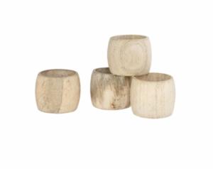 Wooden Napkin Rings (Set of 4)