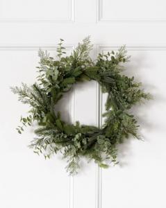 Evergreen Faux Wreath