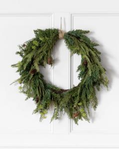 Cedar & Pinecone Wreath