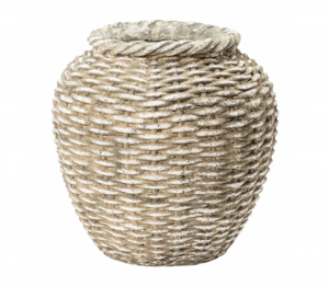 Woven Concrete Vase