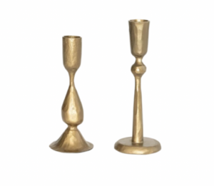 Antique Brass Taper Candle Holder
