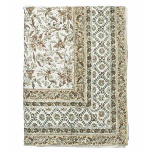 Estelle Block Print Tablecloth