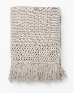 Woven Fringed Throw